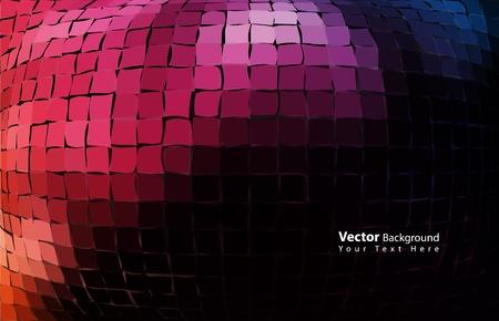 Vector mozaïek 3D-stijl abstracte achtergrond Vector Illustratie