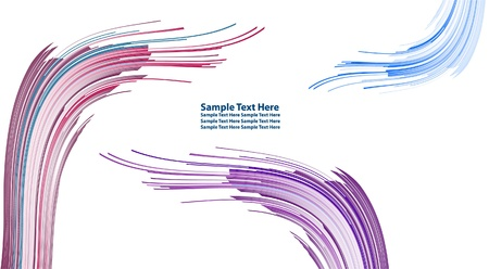 Multiple vector abstract multicolor lines