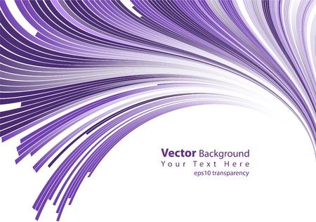 porpora: eps10 trasparenza vettore linee astratte viola