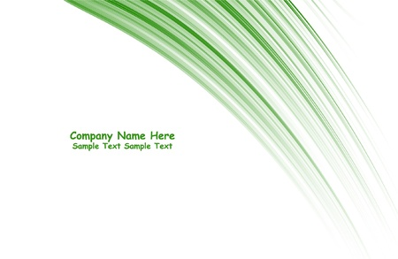 numerous: Numerous vector abstract green lines Illustration