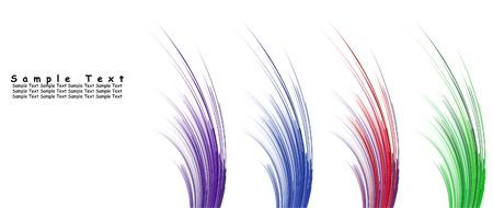 Conjunto de 4 vector de patrones abstractos multicolor