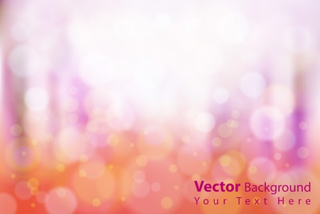 Gorgeous vector bright colorful bokeh background. Fully editable eps10