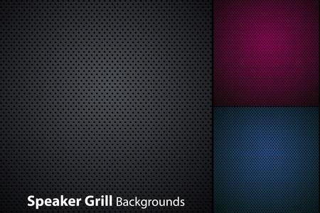 speaker grill realistic textures Vettoriali