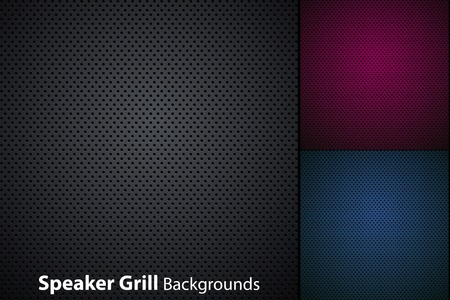speaker grill realistic textures 向量圖像