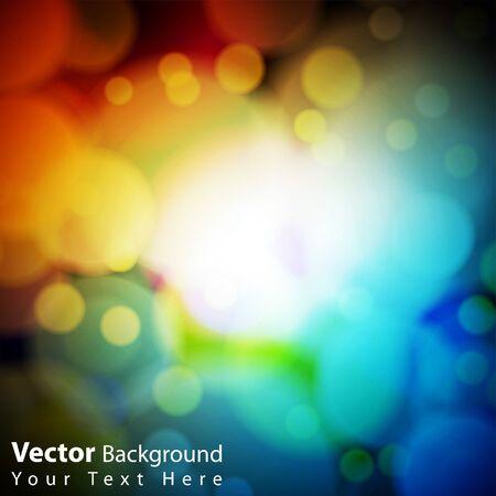 colorful bokeh background Vector Illustration