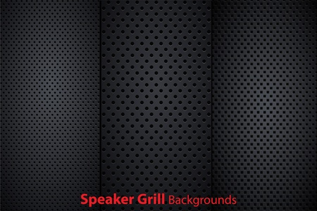 Set of speaker grill realistic textures Stock Vector - 10621513