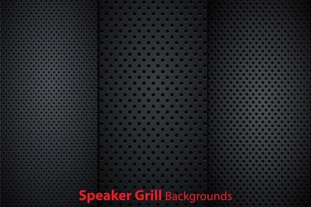Set of speaker grill realistic textures Stock Vector - 10621513