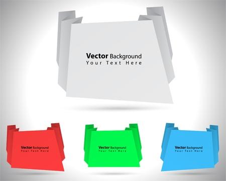 Unique vector colorful origami speech bubbles. Fully editable eps10 Vector