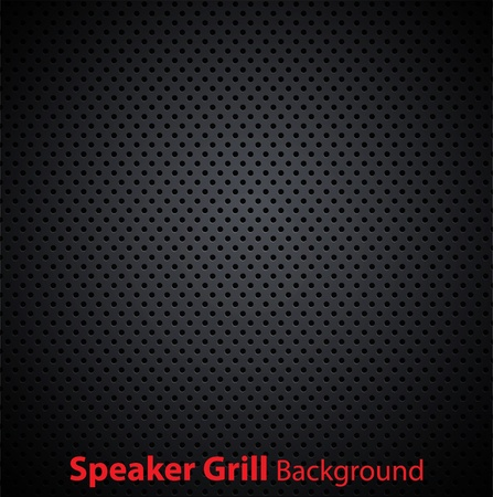 Realistic vector speaker grill texture Stock Vector - 10661243
