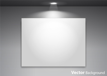 Empty gallery wall with lights for images and advertisement. Fully editable eps10 Stock Vector - 10661242