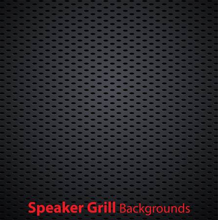 Realistic vector speaker grill background Stock Vector - 10661241