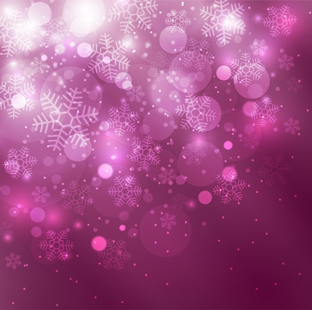 Elegant christmas purple background with snowflakes Фото со стока
