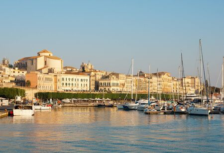 Ancient Siracusa city during sunset, Sicily island, Italy