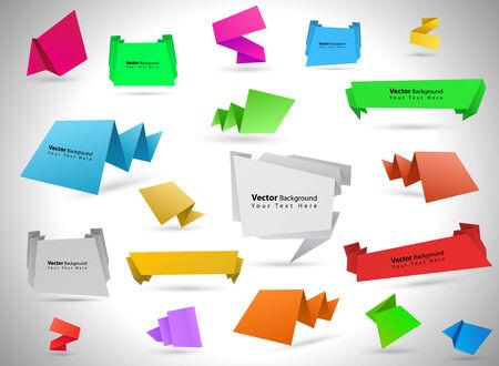 Diverso vettore bolle colorate discorso di origami Archivio Fotografico - 23893312