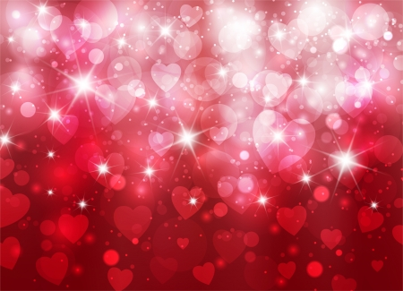 Amazing valentine background with hearts Stock Photo