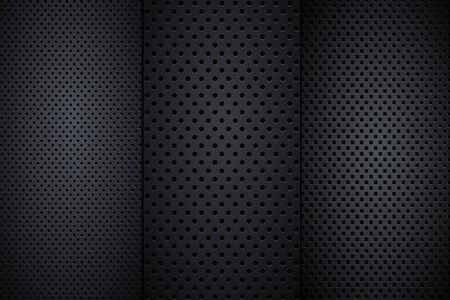 Set of speaker grill realistic textures