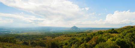 panorama of the Caucasus mountains
