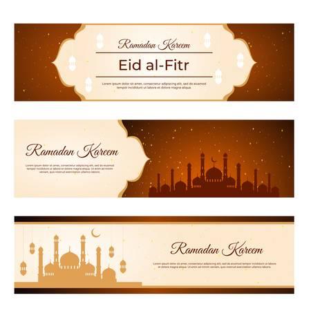 Eid al Fitr and ramadan kareem banner