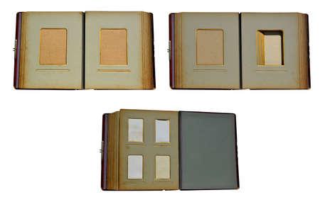 harvesting of old, retro albums to insert photos Stock Photo