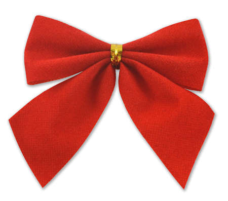 festive bow of red cloth