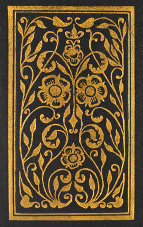 black, old book with gilded ornament isolated on white Stock Photo - 16466796