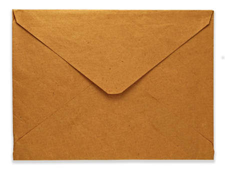 old envelope isolated on white background photo
