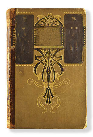 old book with gilded ornament isolated on white Stock Photo - 17995319