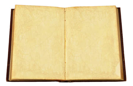 antique book isolated on a white background Stock Photo
