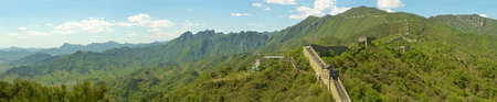 panorama of the great wall of China in the spring time photo