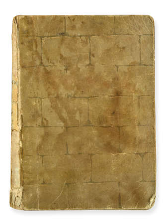 old book with a textured brick and masonry photo