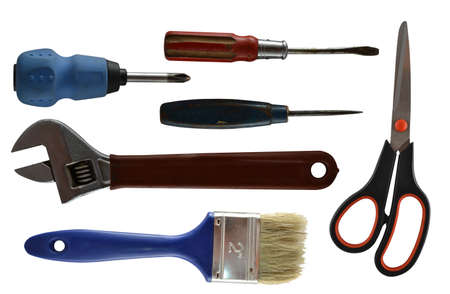 screwdriwer: set of tools isolated on white