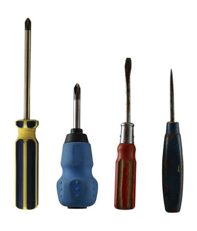 set of screwdrivers isolated on white