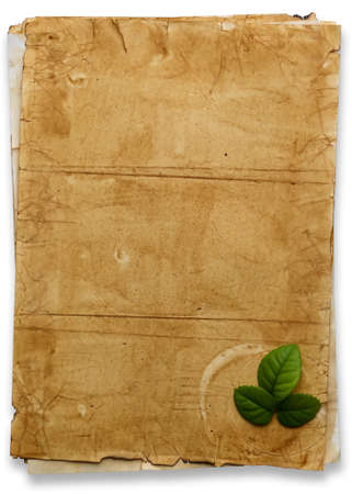 texture of old papers isolated on white  photo