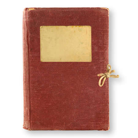 old, brown diary isolated on white background