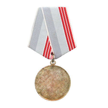 pattern old medal isolated on white background