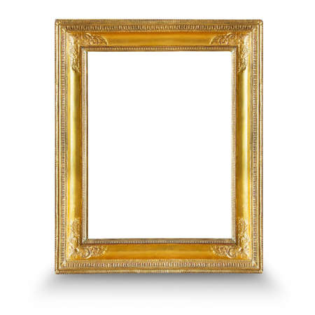gold picture frame: Frame. Gold gilded arts and crafts pattern picture frame.