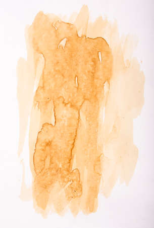 texture of coffee stain on white paper Stock Photo