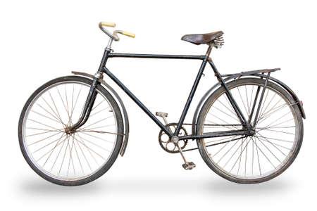 oude fiets op een witte achtergrond