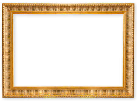 old frame gold isolated on white background Stock Photo
