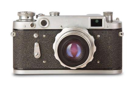 old, vintage, retro camera isolated on white background