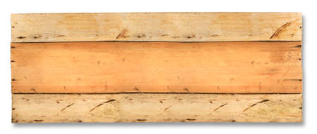 texture of old wooden boards with place for text. Isolated on  white background Stock Photo