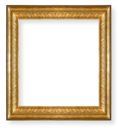 vintage ,gold frame isolated on white background Stock Photo