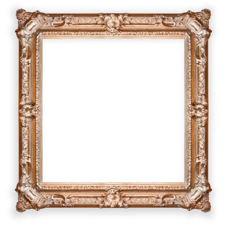 old, antique ,gold frame isolated on white background Stock Photo