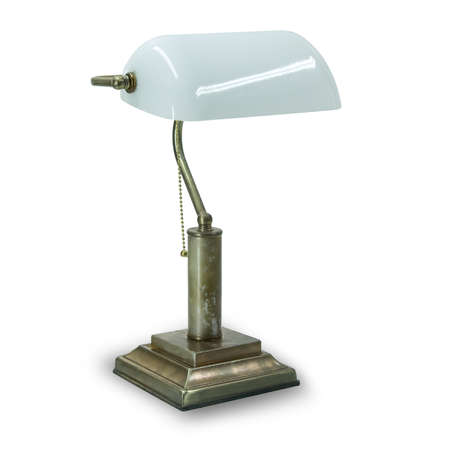 bronze antique lamp isolated on white background Standard-Bild