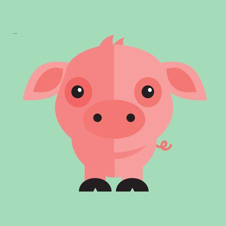 a pig illustration on a plain background