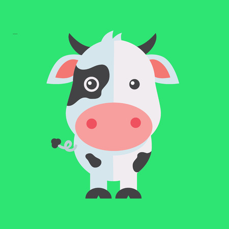 udders: a holy cow illustration on a plain background