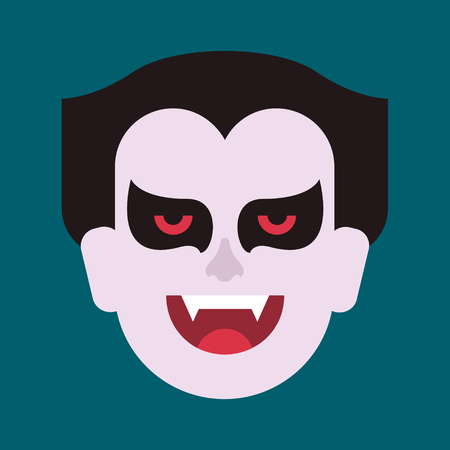 an illustration of a vampire on a plain background Stock Photo