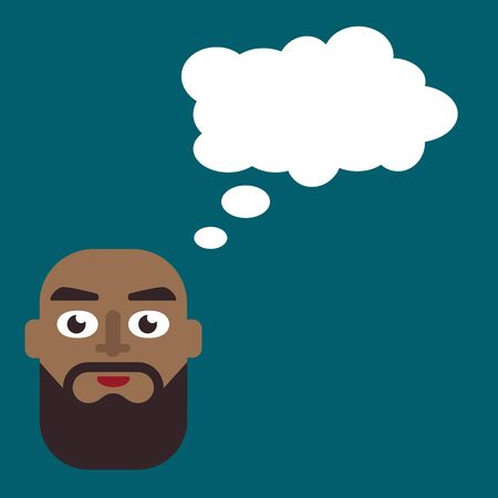 unhealthy thoughts: illustration of a man thinking on a plain background
