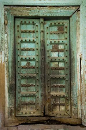 an old vintage Indian door