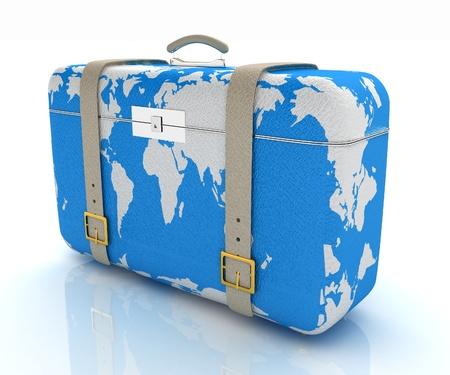 suitcase for travel Reklamní fotografie - 21760730